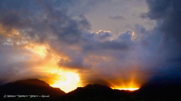 Sunset over the Ko'olau Mountains #8