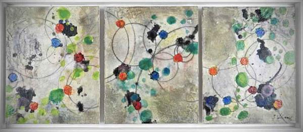 Original Encaustic Painting - Energy Field