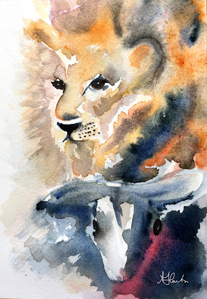 """Lion And The Lamb"" by Jill Lawton 