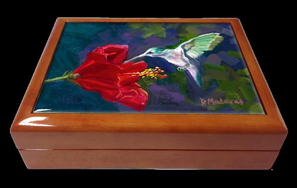 Wooden Keepsake Box | Southwest Gifts | Hummingbird