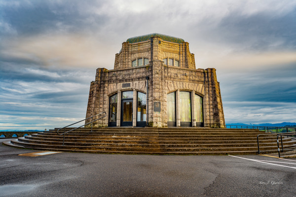 Vista House Sunrise (171644LSND8C) Photograph for Sale as Commercial Product or Digital Licensing Only