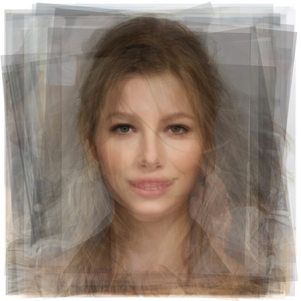 Overlay art – contemporary fine art prints of Jessica Biel