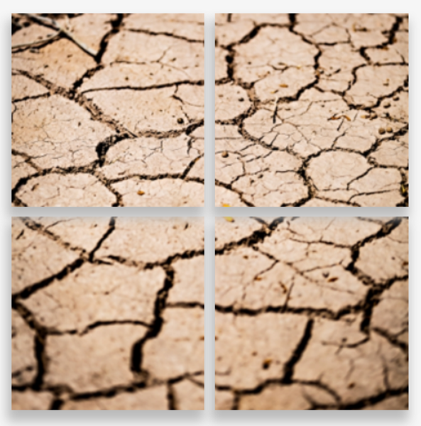 Dry Cracked Trail At The Salton Sea Multi-Panel Art Wall For Sale As Fine Art
