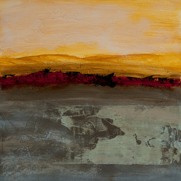 Sun Salutation contemporary abstract painting by Jana Kappeler, artist.