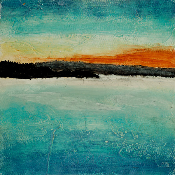 Watermark abstract waterscape painting by Jana Kappeler.