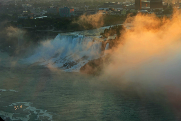Niagara Falls Sunrise - Canada art photograph for sale