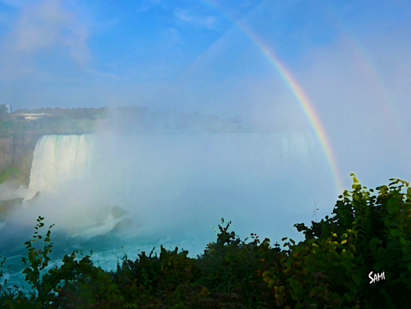 Rainbow at Niagra Falls art photograph for sale