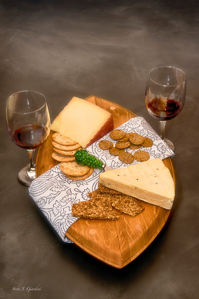 Red Wine & Cheese (171770LSND8) Photograph for Sale as Commercial Product or Digital Licensing Only