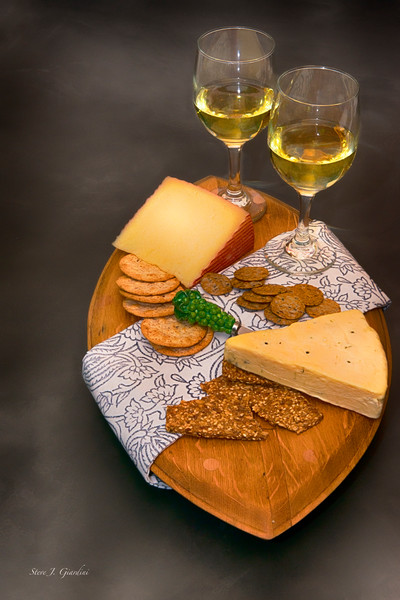 White Wine & Cheese (171766LSND8) Photograph for Sale as Commercial Product or Digital Licensing Only