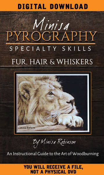 DIGITAL DOWNLOAD: Fur, Hair & Whiskers Pyrography DVD