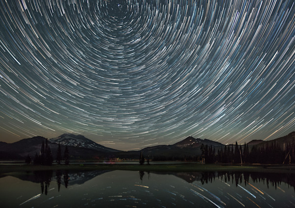 Star Trails over Sparks Lake
