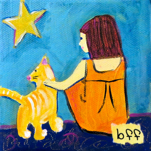 Best Friends Forever Cat Art For Sale