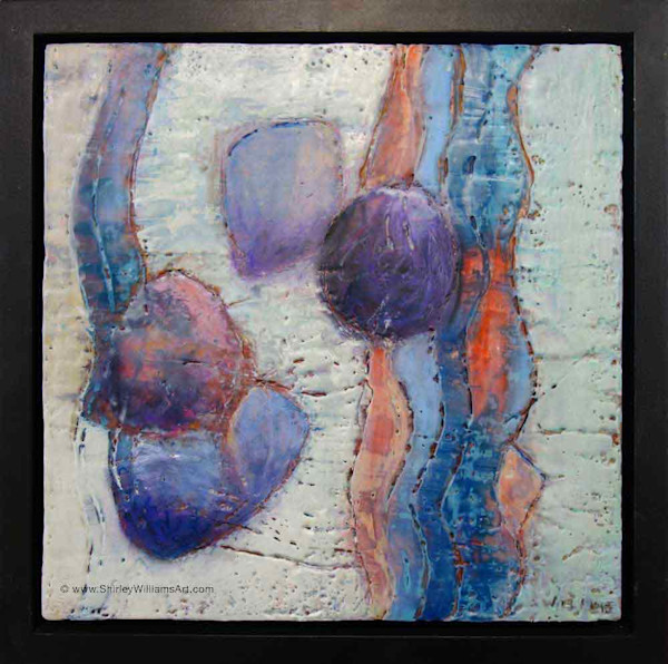 Original Encaustic Painting - Wavelength