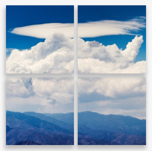 Unique Cloud Formations In Yucca Valley Multi-Panel Art Wall For Sale As Fine Art