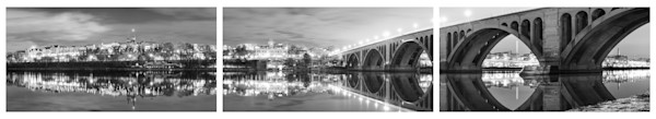Georgetown Pano (BW Triptych)