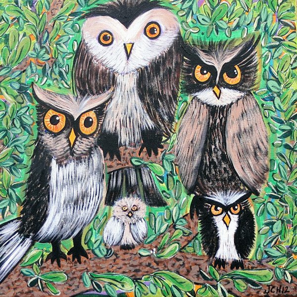 Groovy Owls Art For Sale