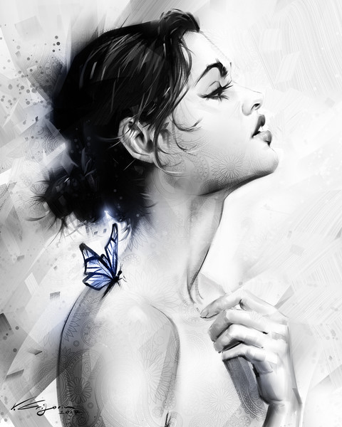 Butterfly Effect 2 - Fine Art by Vahe Grigorian Los Angeles Artist - Digital Prints available for Paper, Canvas and more.custom art, digital portrait, portraits , art for sale