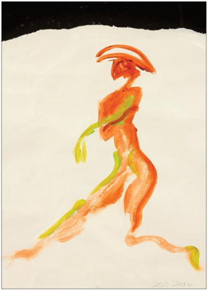 Dancer With Hat is on a gesture figure on a card