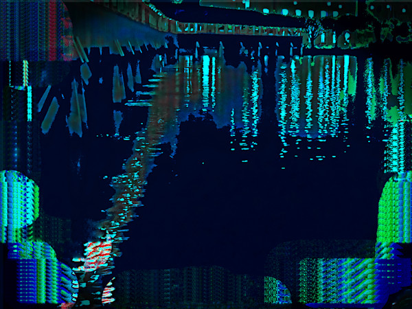 Landscape of a Night on The City Lake