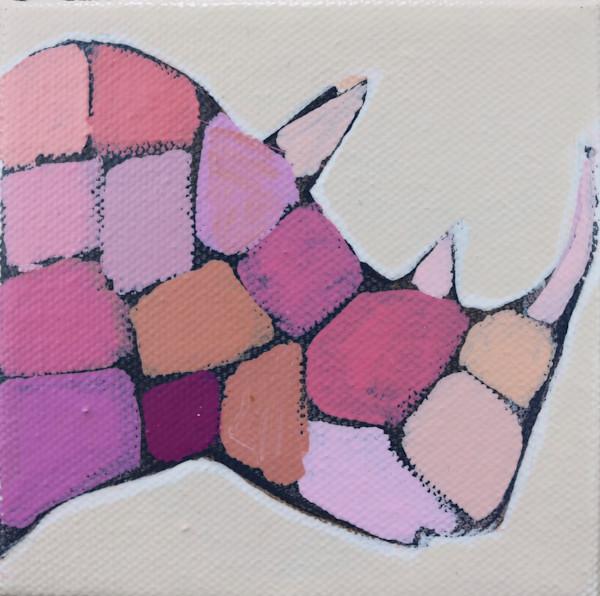 MINI Party Pink Mosaic Rhino 4 x 4