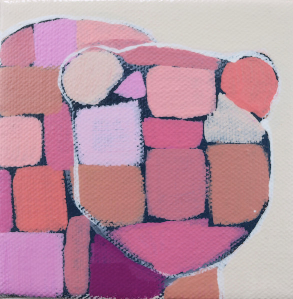 MINI  Party  Pink Mosaic Bear 4 x 4