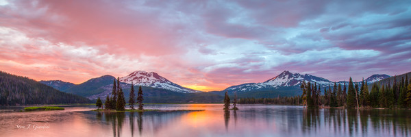 Sparks, South Sister & Broken Top (171950LND8C) Photograph for Sale as Commercial Product or Digital Licensing