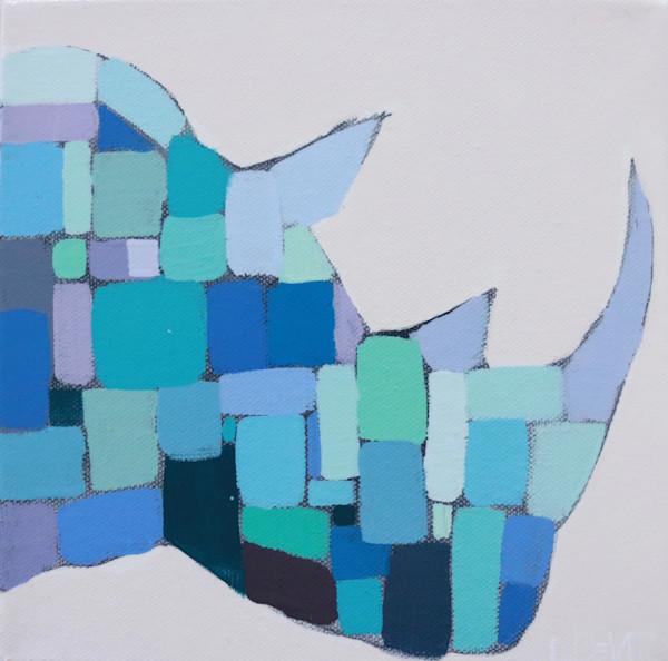 MAXI -  Sing the Blues Mosaic Rhino 8 x 8