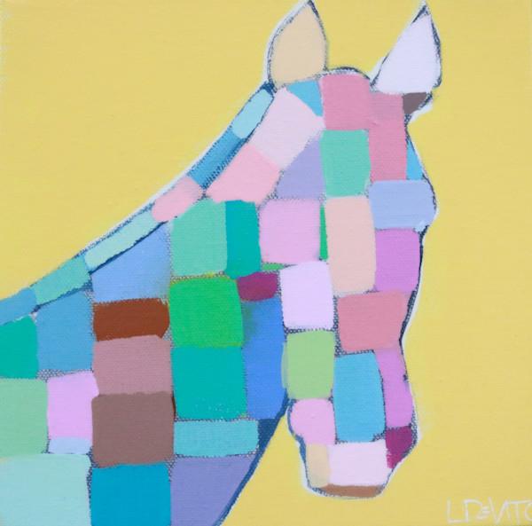 MAXI  - Sunshine and Rainbows Mosaic Horse 8 x 8