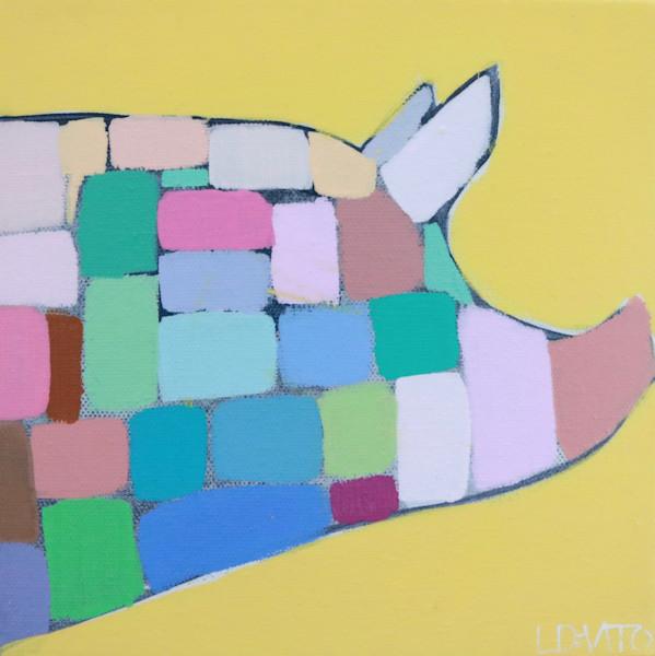 MAXI  - Sunshine and Rainbows Mosaic Pig 8 x 8