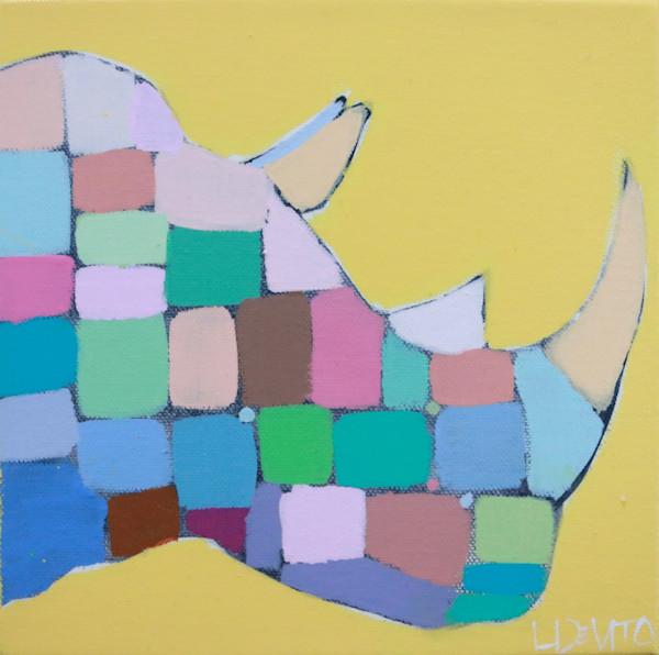 MAXI -  Sunshine and Rainbows Mosaic Rhino 8 x 8