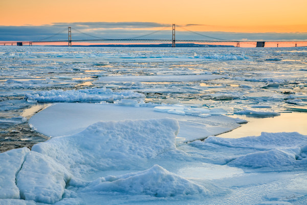 Winter at the Straits of Mackinac