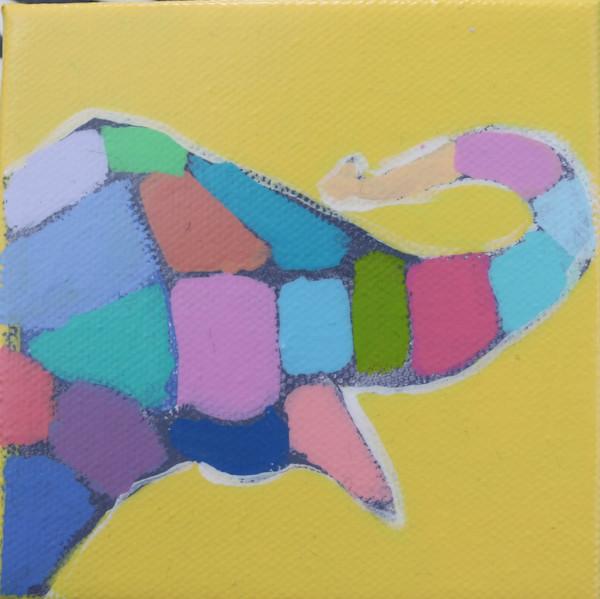 MINI Sunflower Yellow Mosaic Elephant 4 x 4