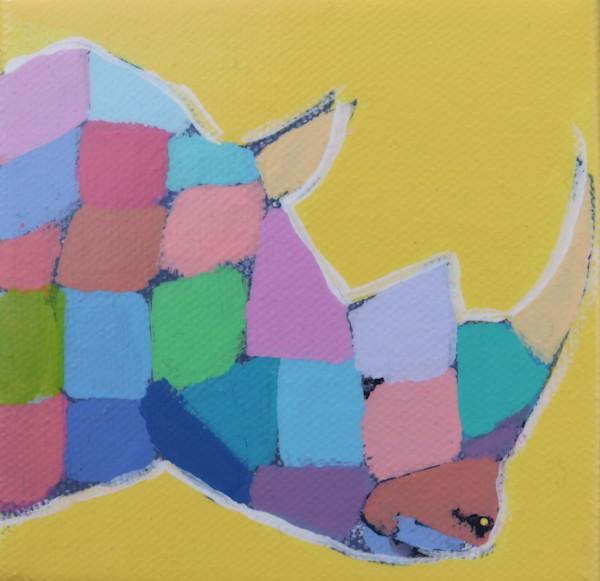 MINI Sunflower Yellow Mosaic Rhino 4 x 4