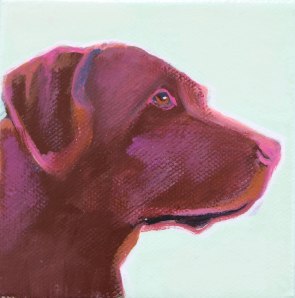 MINI Pale Winter Green Yellow Lab 4 x 4