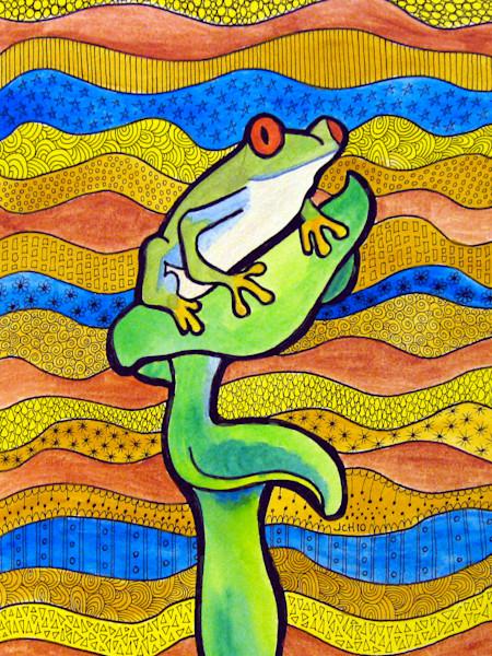 Funky Frog Animal Art For Sale