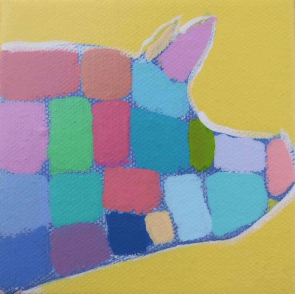 MINI Sunflower Yellow Mosaic Pig 4 x 4