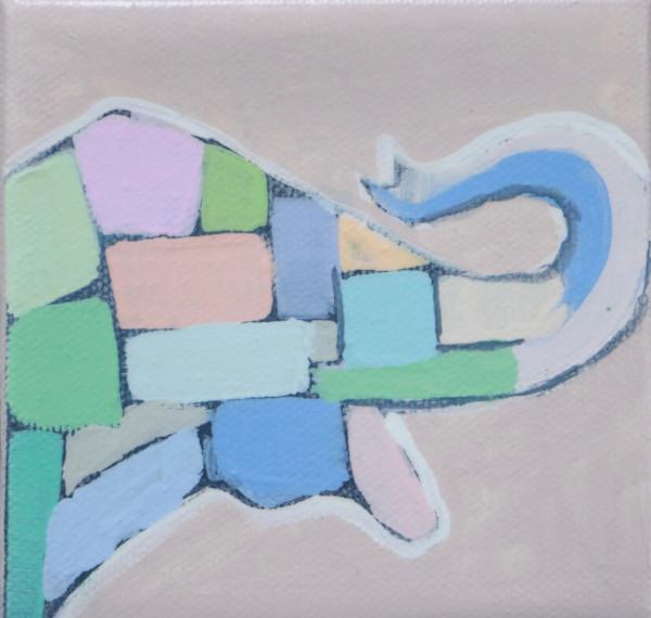 MINI Jolly Pastel Mosaic Elephant 4 x 4