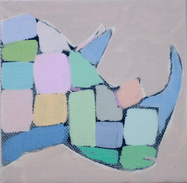 MINI Jolly Pastel Mosaic Rhino 4 x 4