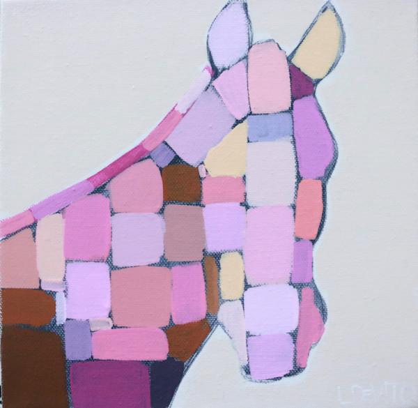 MAXI  - Berry Pink Mosaic Horse 8 x 8