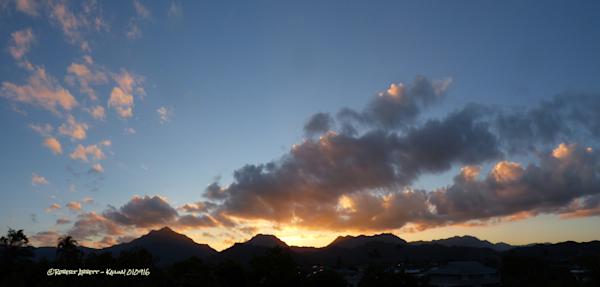 Sunset over the Ko'olau Mountains #1