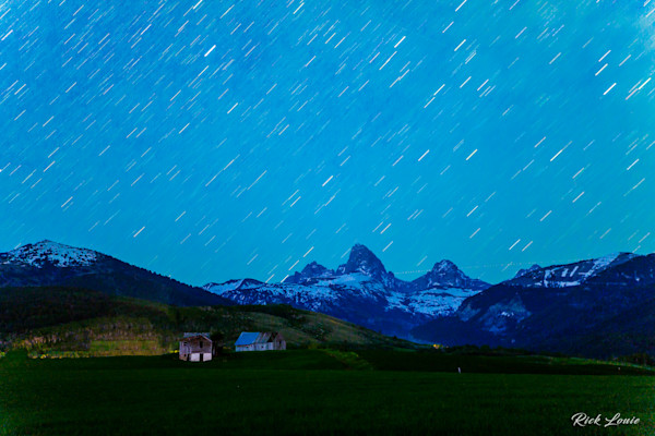 Raining Stars over the Tetons