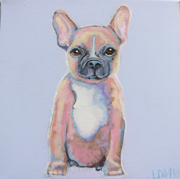 """MAXI  - """"Frenchie"""" on Lavender  8 x 8"""