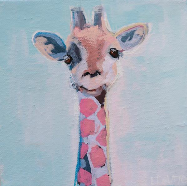 MIDI  -  Pink and Blue  Giraffe  6 x 6