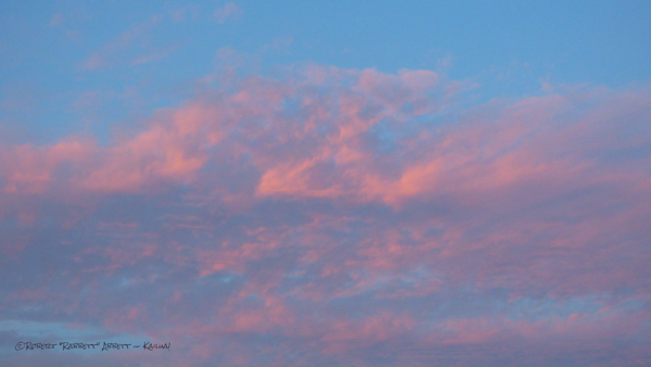 Pink Skies #9, clouds and sky, YES! we got to enjoy some pinks in the sky this morning.