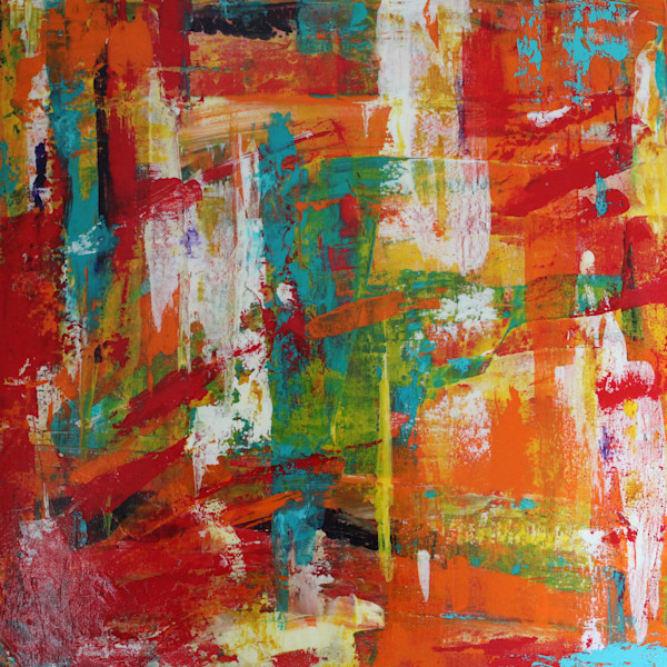 art-wall|yellow-and-orange-paintings|Lesley Koenig
