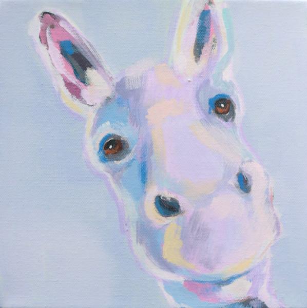"MAXI ""FLORENCE "" Pretty Pastel Donkey 8 x 8"