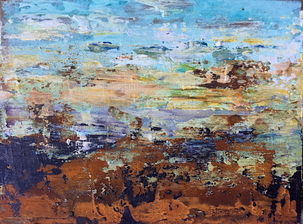 Abstract landscapes in mixed media by Holly Whiting for sale