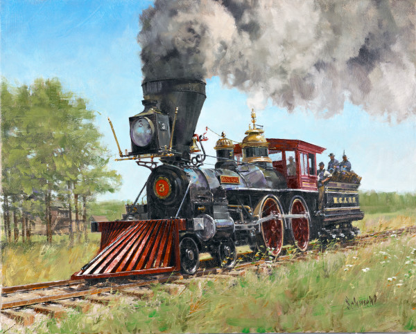 Great Locomotive Chase Art for Sale