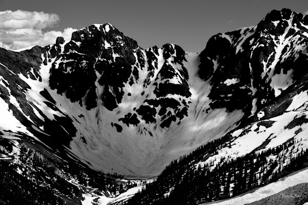 Markus Van Meter Alpine Photography-Velocity Basin in Black and White
