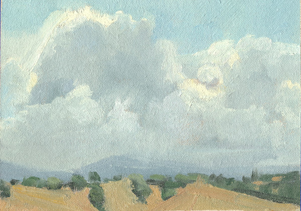 Thunder Clouds On The Horizon | Original Oil Painting by Antrese Wood